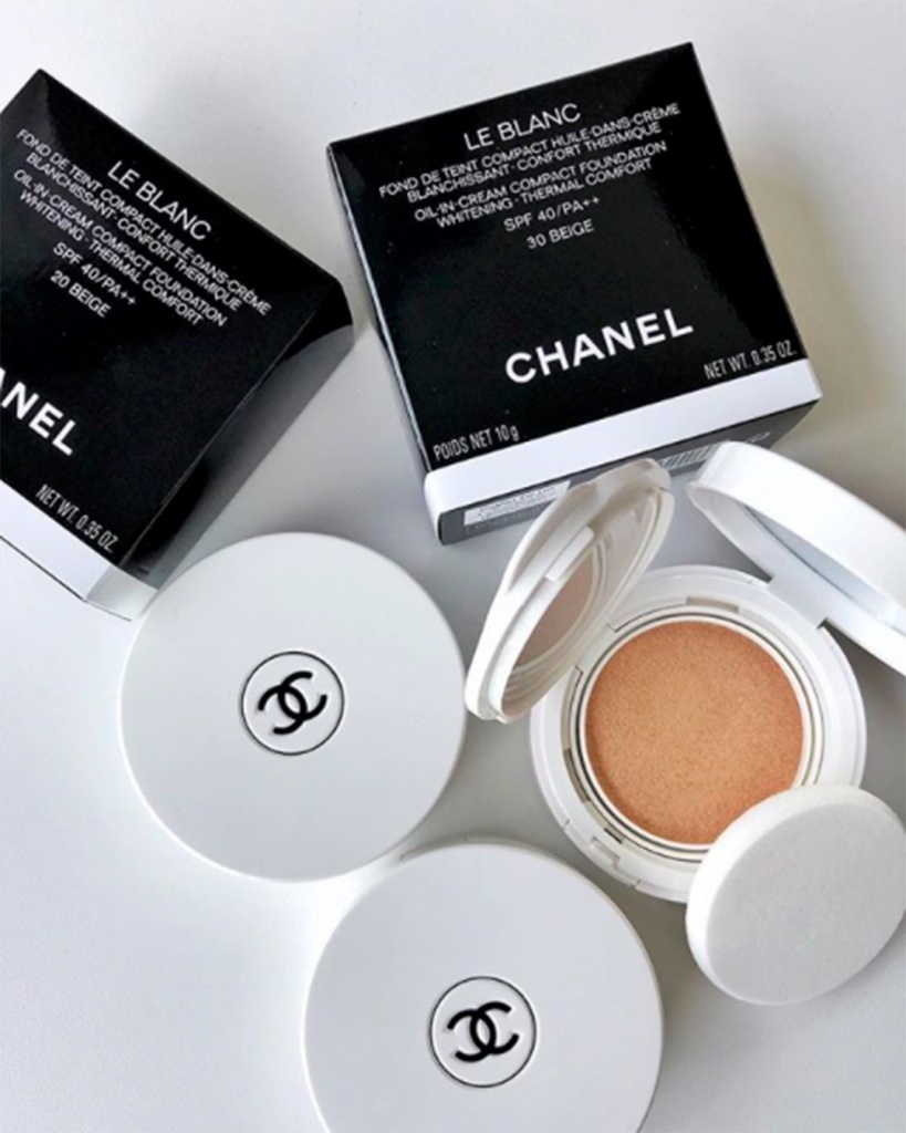 Editing Beauty Chanel Le Blanc De Makeup Base Oil In Cream Compact Foundation